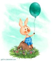 Piglet And His Balloon by gub1ns