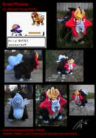 Entei Plushie by Monster-House-Fan92