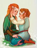 Tauriel And Sigrid by Mad-Hattie
