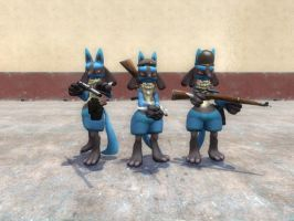 Lucario's of Victory by CobraCalhoun