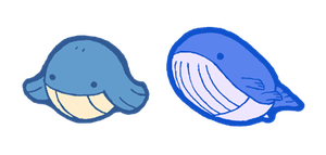 qt wailmer and wailord by Hazuza