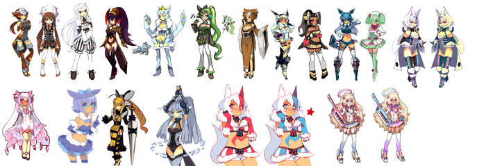 All my BluC adoptables by SergeantGrif