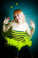 Bumble Bee Girl by StellaPhotos