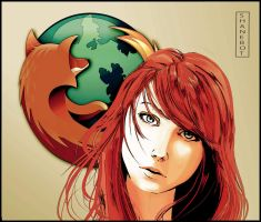 Browser Girl - Firefox by ShaneBot