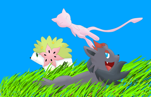 :Pokemon Request 13: Shaymin, Mew And Zorua by Bloodfire09