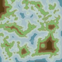 Abstract World Map -MineCraft (ish) by WorldBuilding