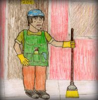 The Cleaning Lady by ZombiePsychologist