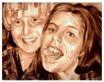 Crazy Friends - Coffee Painting by ArtByBryanna