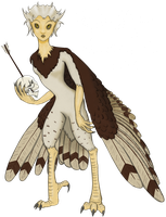 Harpy profile colored by NetherStray