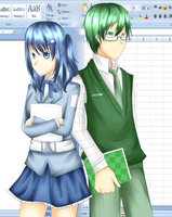 Microsoft Word and Excel Gijinka by sepuluhributiga