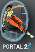 Chell -REDACTED- by flyrobotfly
