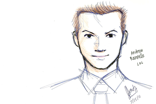 Andrew Rannells sketch by wendy510