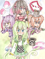 [CE] Chekkers in Wonderland by PandasInMuffins
