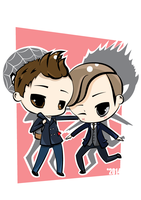 Peter Parker and Harry Osborn by winter-kareki