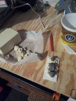 05JUN13 Preparing Armature Mold Pieces by SudsySutherland