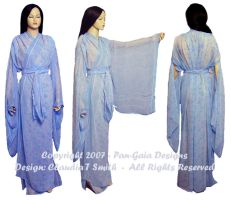 Kimono Blue Flowered Sheer by HasturCTS