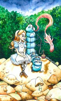Alice and the Caterpillar by AnnaLau13