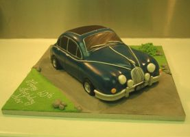 MkII XK8 Jag Cake by Dragonsanddaffodils