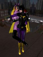 Batgirl and Catwoman: Rooftop Rivals by EthereaS