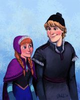 Anna And Kristoff by IzziBelle