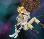 Paul and Delah Falling with the Stars by Catluckey