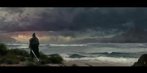 SeaScape_Sketch by donmalo