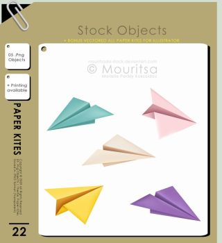 Object Pack - Paper Kites by MouritsaDA-Stock