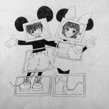 Mickey And Minnie Mouse by aladdin94