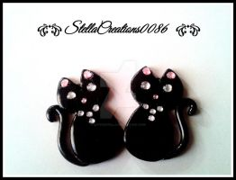 black cats- polymer clay by gothicstella