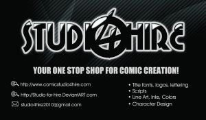 Studio 4 Hire Business Card by 5000WATTS
