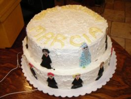 Harry Potter Cake - front view by CassieArin