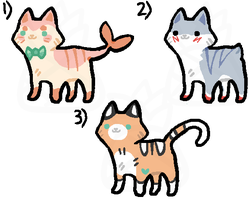 kitty adoptables // #3 is free by PineapplesDogs