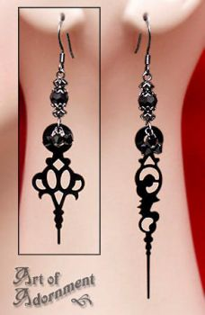 Steampunk Clock Earrings by Valerian