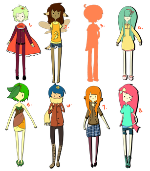 Adoptables: 20 Points SOLD by Coffeene