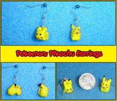 Pokemon: Pikachu Earrings by YellerCrakka