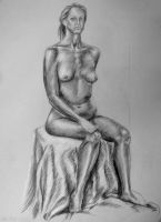 Figure Drawing - Sitting by Elsma