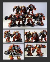 Space Marine Terminators by Kosmoscape