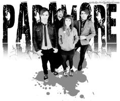paramore black and white wall by alekzis