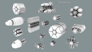 Truss parts kit by axeman3d