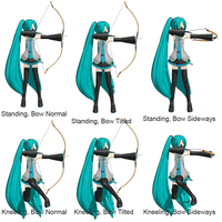 MMD Archery Pose Pack by tsukinokage