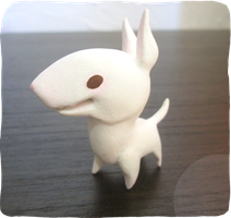 Bull Terrier toy by wolvesrevolution