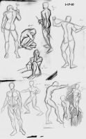 Figure Drawing Sketches by Savari07