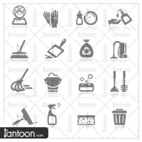 Icons set cleaning by Tantoon-Studio