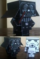 Darth Vader Cubee by paperart