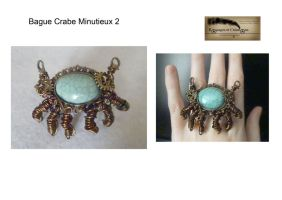 Steampunk crab ring 02 by Rouages-et-Creations