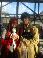 Light Yagami and Grell Sutcliff cosplay NYCC 2011 by XPockyDemonX