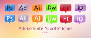 "Adobe Suite ""Quote"" Icons by d-bliss"