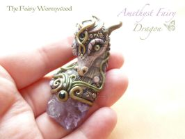 Amethyst Fairy Dragon4 by EnchantedTokenArt