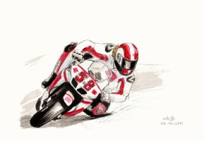 Marco Simoncelli RIP by AndreaSchepisi