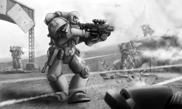 Wh40K: Tactical Space Marines by StugMeister